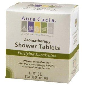 Eucalyptus Shower Steam Tablets From Aura Cacia
