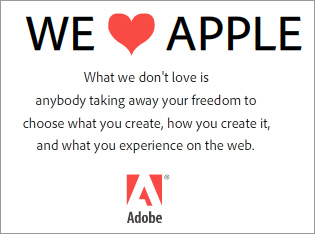 Adobe Responds to Apple's Position on Flash