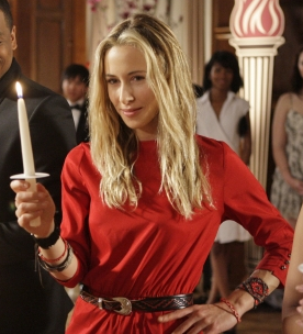 Ivy in Red Dress on 90210