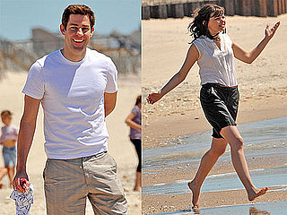 Pictures of John Krasinski and Ginnifer Goodwin on the Beach Filming Something Borrowed 2010-05-17 16:30:49