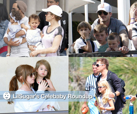 Pictures of Jennifer Lopez, David Beckham, Isla Fisher, and Ryan Phillipe With Their Children