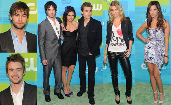 Pictures of Chace Crawford, Nina Dobrev, Paul Wesley, and Ian Somerhalder at The CW Upfront Event 2010-05-21 14:00:00