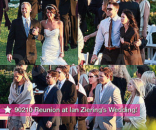 Pictures of 90210 Cast at Ian Ziering's Wedding