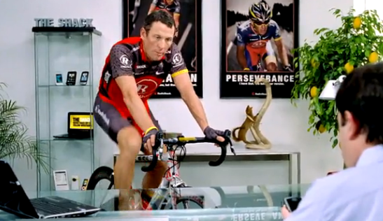 New Lance Armstrong Radio Shack Commercials on Texting, Voicemails, and Emoticons