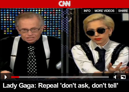 Lady Gaga Dressed as Larry King