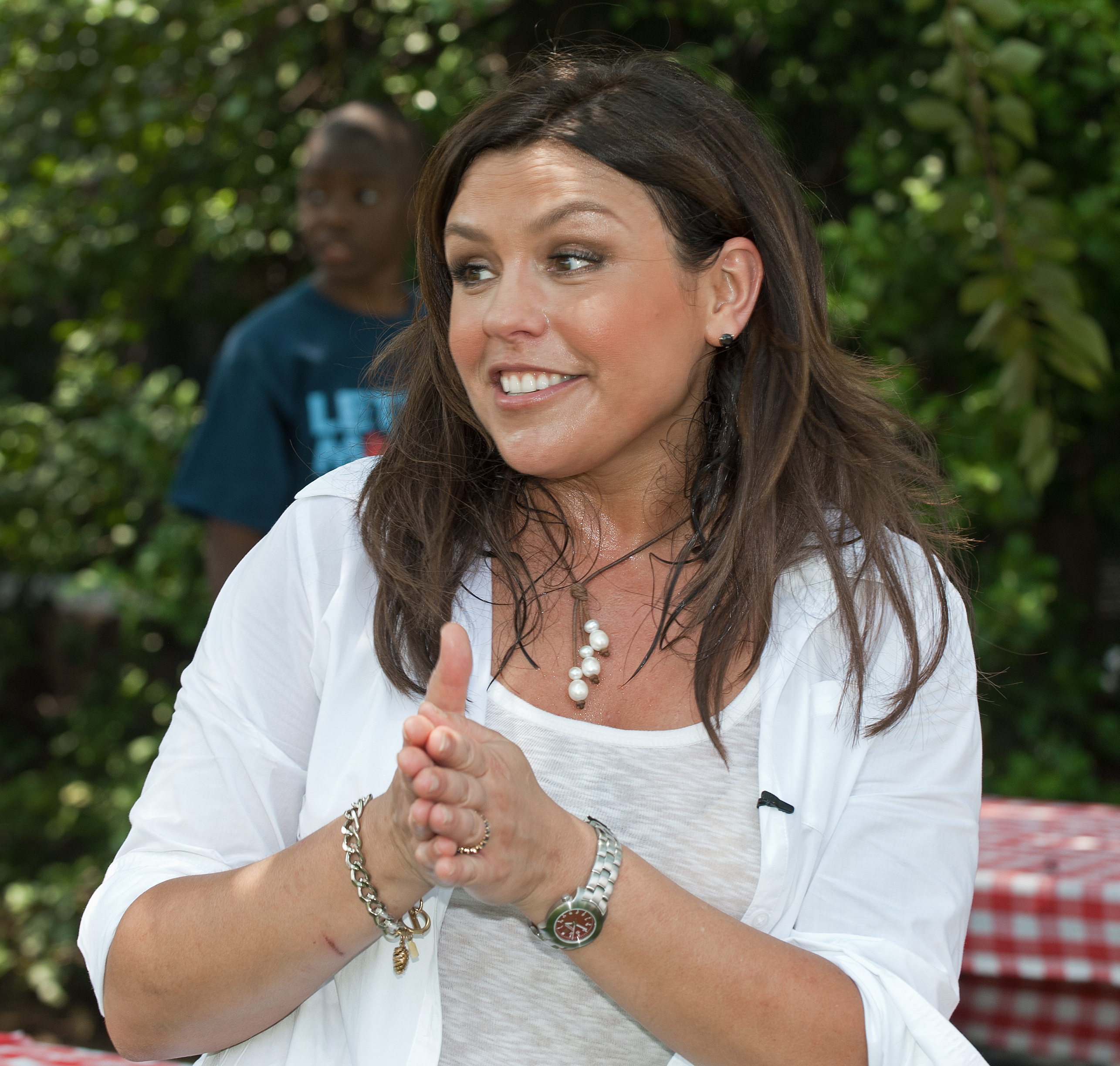 Rachael Ray was present to take part in the action.