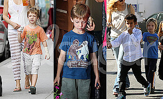 Pictures of Ryder Robinson in Superhero Shirts