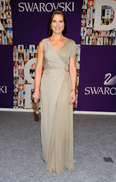 Don't forget Brooke was originally a model! She looked lovely as ever last night in J. Mendel.