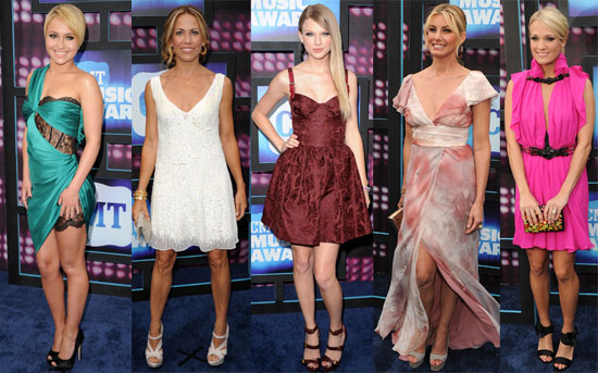 Pictures of Taylor Swift, Carrie Underwood, Nicole Kidman, John Mayer at 2010 CMT Music Awards