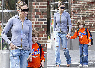 Pictures of Sarah Jessica Parker Walking James Wilkie Broderick to School in NYC 2010-06-12 09:00:00