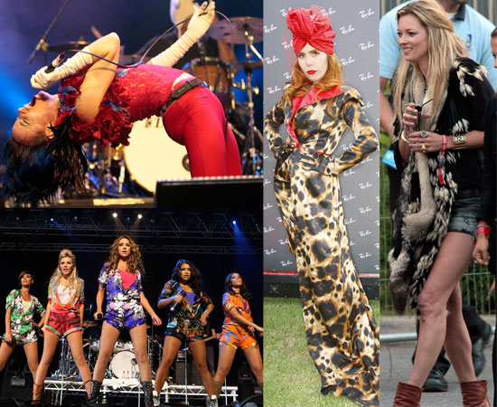 Extensive Gallery of Pictures Backstage and On Stage at the Isle of Wight Festival 2010 with Kate Moss