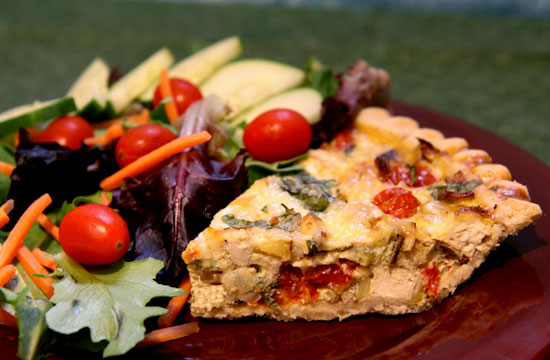 Recipe For Tofu, Tomato, and Basil Quiche | POPSUGAR Fitness