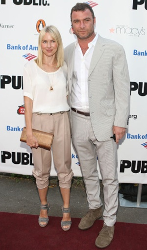 Naomi Watts Wears Icy Neutral Accessories at 2010 Public Theater Gala