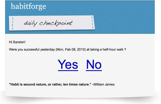 HabitForge Helps You Set Habits in 21 Days