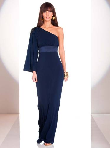 The one shoulder blue gown is so elegant, definitely my favourite from the collection.