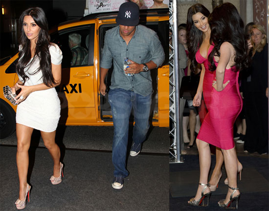 Pictures of Kim Kardashian on a Date With Miles Austin and Debuting Her Wax Figure 2010-07-01 10:00:00