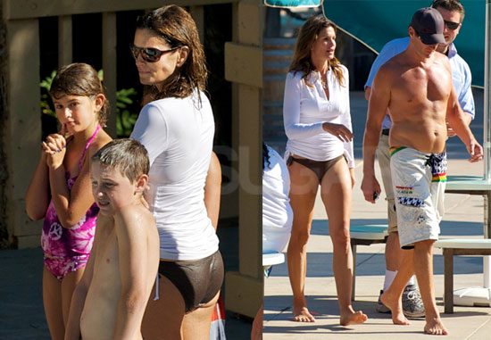 Pictures of Cindy Crawford in Bikini Bottoms With Shirtless Rande Gerber
