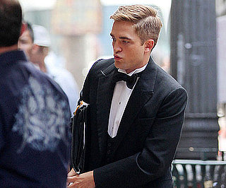 Slide Picture of Robert Pattinson In Tuxedo Filming Water For Elephants