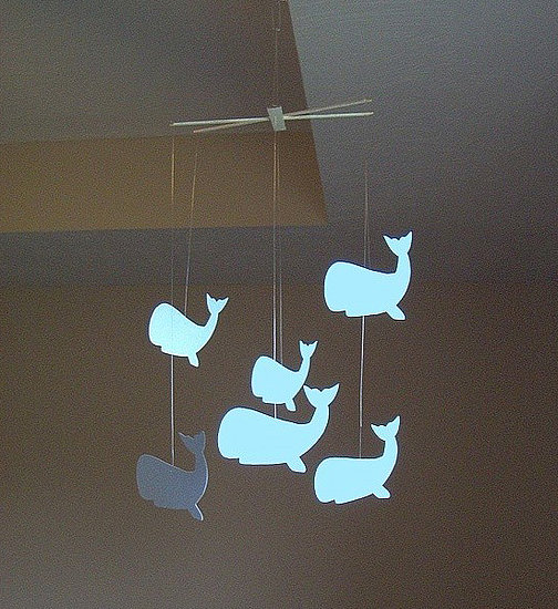 Blue Whales Paperbella Mobile