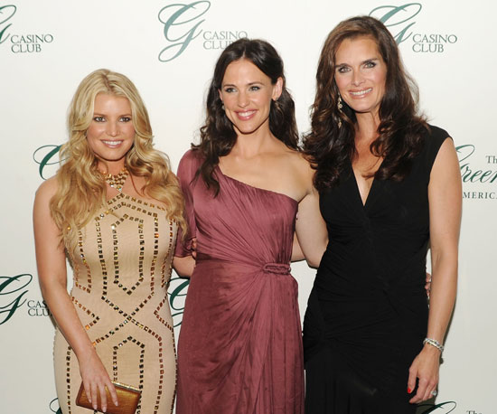 Slide Picture of Jennifer Garner, Jessica Simpson and Brooke Shields at Casino Opening