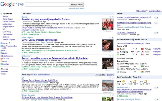 A New Look For Google News