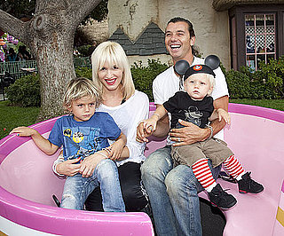 Slide Picture of Gwen Stefani and Gavin Rossdale With Kingston and Zuma at Disneyland