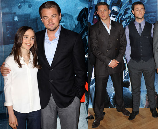 Pictures of Leonardo DiCaprio, Joseph Gordon-Levitt, Ellen Page and Tom Hardy in London at Inception Photocall