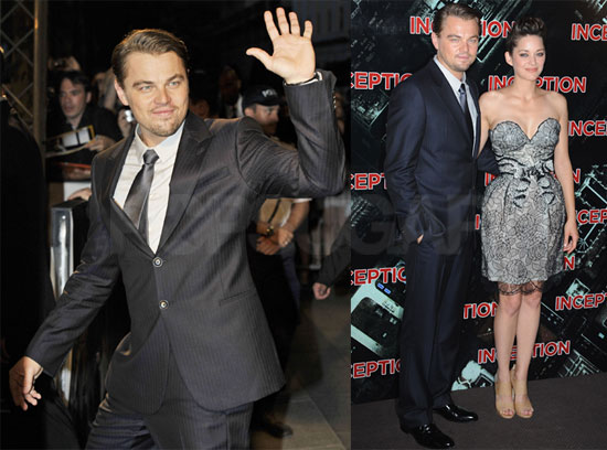Pictures of Leonardo DiCaprio, Marion Cotillard, Ellen Page, and Joseph Gordon-Levitt at the Paris Inception Premiere