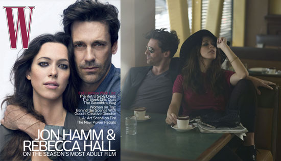 Pictures and Quotes From The Town's Jon Hamm and Rebecca Hall in W 2010-07-13 04:00:00