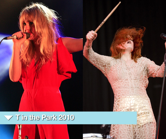 Photos from T in the Park 2010 Including Florence Welch and Diana Vickers