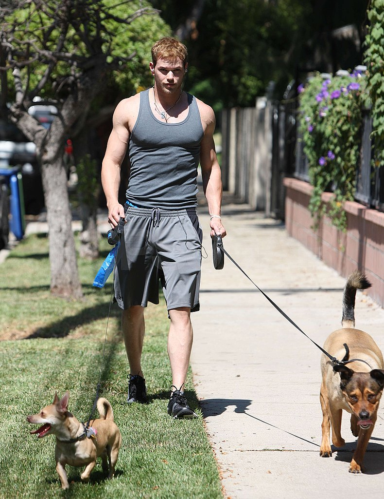 Pictures of Kellan and the Dogs