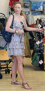 Rebecca Gayheart Wears Printed Tiered Dress and Sandals