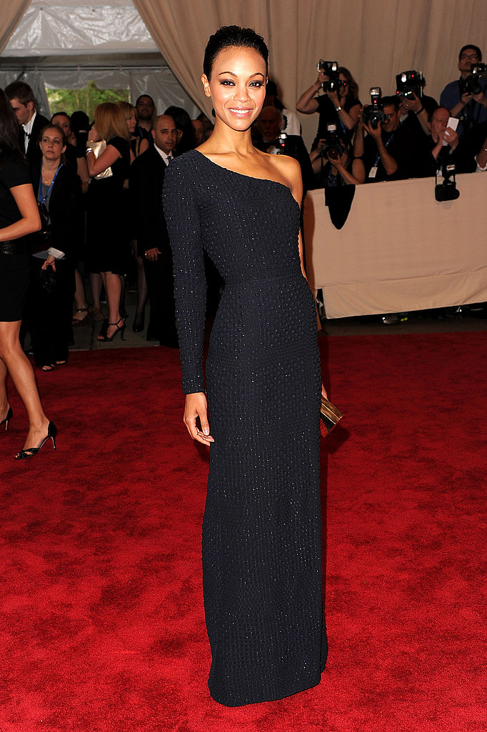 Zoe donned textural Calvin Klein at the Met's Costume Institute Gala in 2010 — did you love it or hate it?