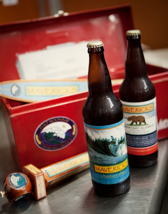 Half Moon Bay bottles a number of its beers. Among them? Its popular Mavericks Amber Ale.  Photo courtesy of Justin Lewis
