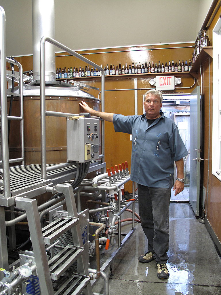 When the Half Moon Bay Brewing Company opened seven and a half years ago, it became the first legal brewery on the Half Moon Bay coast since 1873. Here, sales and marketing director Wayne Meyer explains that the brewery is currently at full capacity.