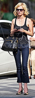 January Jones Wears J Brands and Prada Bag in NYC
