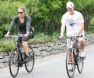 Slide Picture of Justin Timberlake and Jessica Biel Riding Bikes in NYC