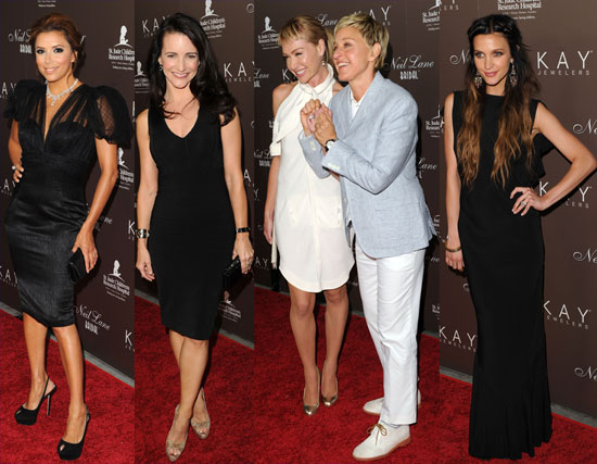 Ellen and Portia Shine in Diamonds and Join Eva, Ashlee, and Kristin For Neil Lane's Big Night