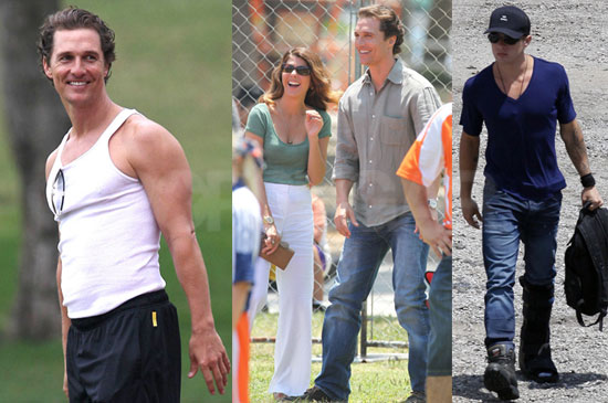 Pictures of Matthew McConaughey, Ryan Phillippe and Marisa Tomei Filming The Lincoln Lawyer in LA