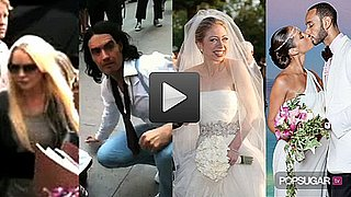 Time Lindsay Lohan Spent in Jail, Video of Russell Brand Filming Arthur in NYC and Pictures of Chelsea Clinton at Her Wedding