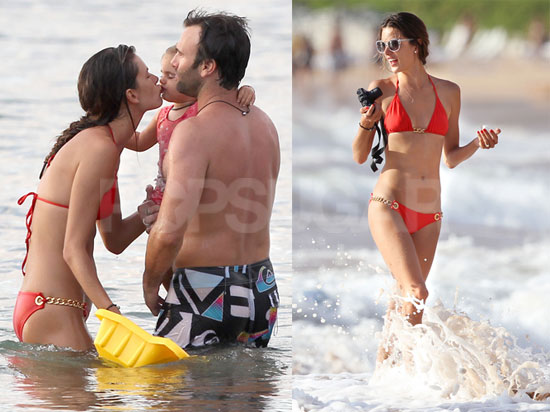 Pictures of Alessandra Ambrosio With Jamie and Anja Mazur in Hawaii