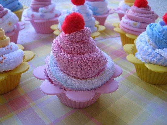 Baby Towel Cupcakes