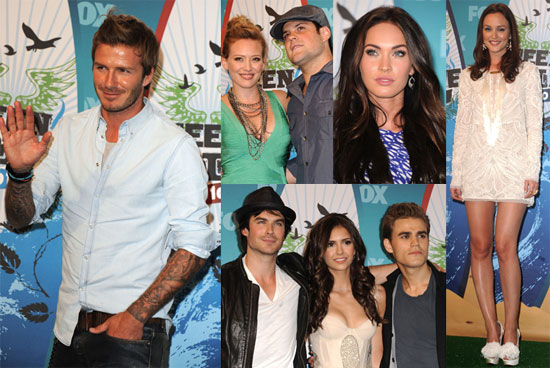 Pictures of Leighton Meester, Megan Fox, David Beckham, Mike Comrie, and Hilary Duff at the Teen Choice Awards Press Room