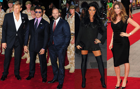 Sylvester Stallone, Jason Statham, Katie Price and More at the London Premiere of The Expendables