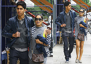 Pictures of Freida Pinto and Dev Patel Walking in London