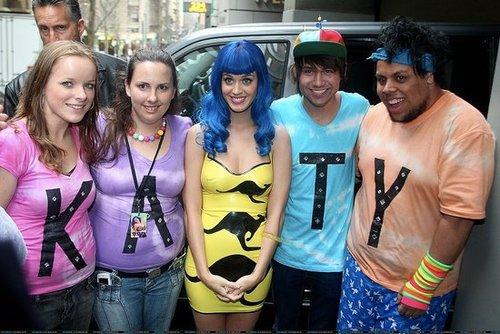 Katy Perry out in Melbourne with the Fans