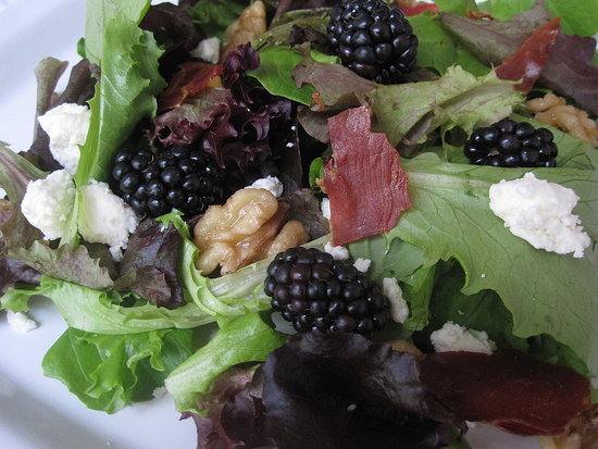 Mixed Greens With Blackberries and Feta Recipe
