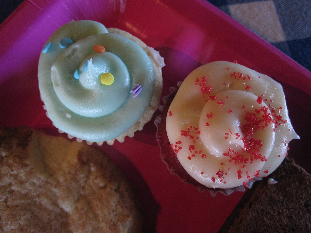 The miniature cupcakes were from Susie Cakes.