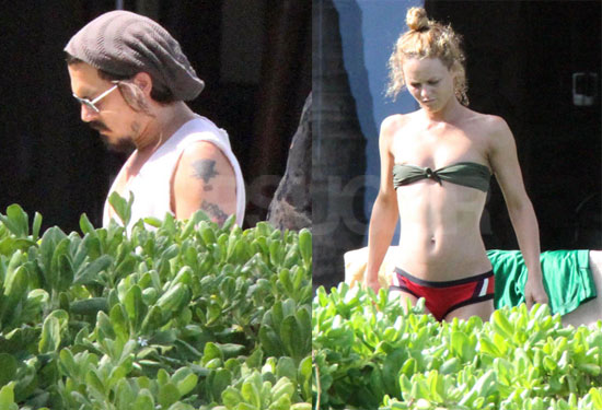 Pictures of Johnny Depp and Bikini-Clad Vanessa Paradis in Hawaii