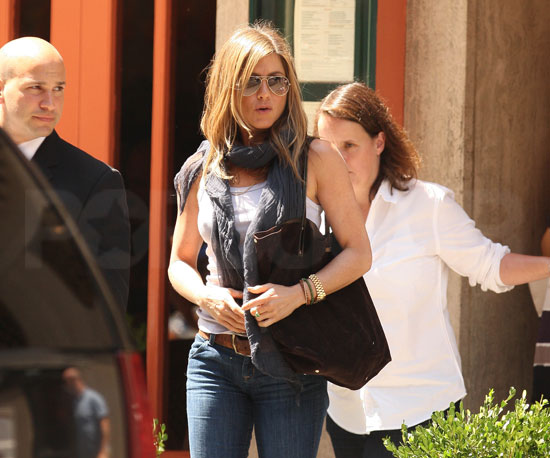 Slide Picture of Jennifer Aniston Lunching in New York